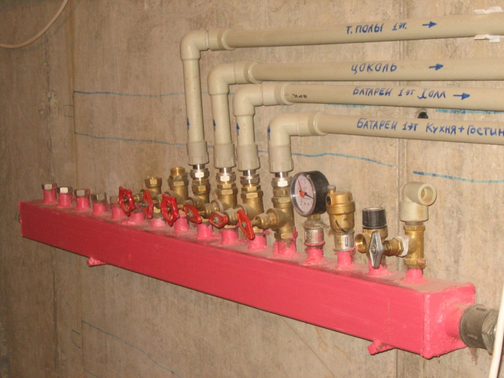 Как сделать своими руками коллекторную систему отопления